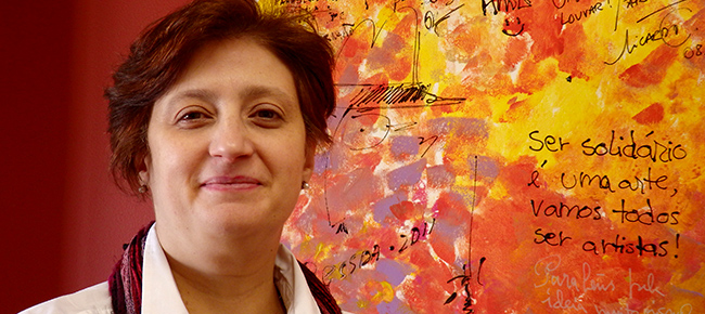 Paula Guimarães, presidente do GRACE em representação do Montepio