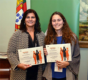 Margarida Ferreirinha, da REN e Maria Penha no Leaders for a Day